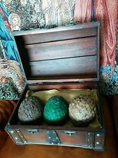 Game of Thrones Dragon Eggs. In a wooden casket. Huge.