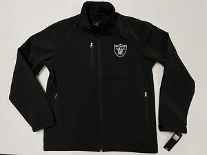 Oakland Raiders GIII NFL Soft Shell Jacket Thermal Black Size Medium New W Tags