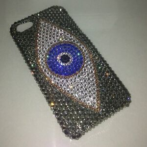 Evil Eye Crystal BLING BACK CASE FOR GALAXY S9 made w 100% Swarovski Crystals