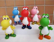 "New 5pcs Super Mario Bros 4.5"" YOSHI Action Figure Toy"