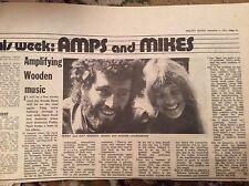 U1-6 ephemera 1971 article terry gay woods singers