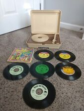 Power Tronic Record Player Phonograph 45 33 1/3 NASTA 00002 With 6 Records Works