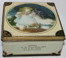 Thornes Hinged Confectionery Tin Box Leeds England