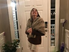 Mink Stole Silver Ladies Small