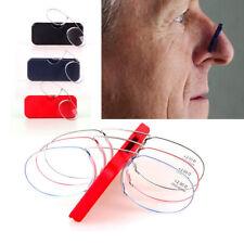 Óptica anti fatiga Mini Clip De Nariz Gafas de Lectura con Estuche 1.5/2.0/2.5 Elder