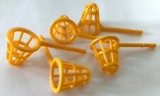 *NEW* 5 Pieces Minifig Lego Bright Light Orange Fishing NET Utensil WIND GAUGE