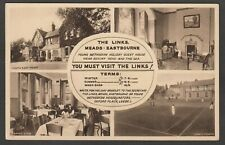 Postcard Eastbourne Sussex multiview The Links a Methodist Guest House at Meads