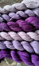 Fifilabonk 100% CASHMERE KNITTING YARN 2ply DK 6 HANKS = 89g 1200yd LILAC PURPLE