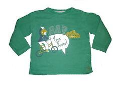 GAP tolles Sweat Shirt Gr. 104 / 110 grün mit Druckmotiv !!