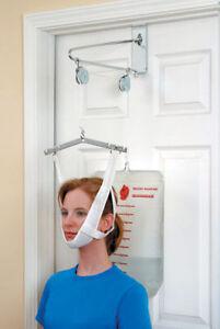 Vtg DMI Duro-Med Over THe Door Traction Set Head Halter #2014 Cervical Neck