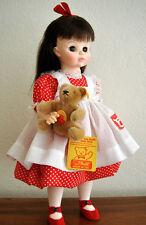 "1988 LTD ED FAO Schwarz Madame Alexander ""BROOK"" doll with STEIFF BEAR are MIB!"