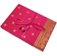 Sari Fabric Writing Set, 6 Colours, 20 Sheets of Recycled Paper and 10 Envelopes