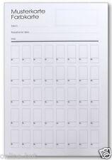 1 x Musterkarte / Farbkarte mit 40 rechteckigen Feldern, DIN A5,  Nr. MK-01
