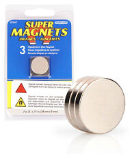 3er Set Supermagnete 18 x 3 mm, Neodym Magnet, 3 Neodymium Magnete