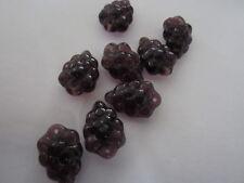 Czech Purple Concord Grape Fruit Beads   20pc