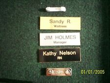 Employee Personalized Name Tag Badge 1x3 Pin or Magnet Medical Nurse Doctor