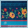 BonEful Fabric FQ Cotton Quilt Cottage Word Rose Flower Border Stripe Folk Art L