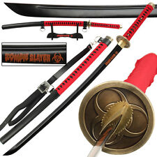 Blood Red Zombie Slayer High Carbon Steel Full Tang Japanese Katana Sword