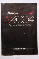 Nikon N4004 System Accessories Sales Brochure Book & Papers - English - USED M1