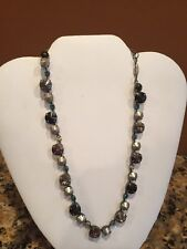 NICE SABIKA AFTER FIVE FUN HANDCRAFTED MULTI-COLOR CRYSTAL NECKLACE