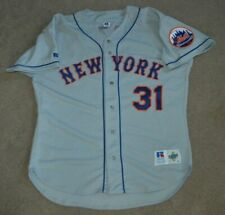Vtg Mike Piazza New York Mets Russell AUTHENTIC Baseball Jersey Sz 48