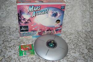 1996 MARS ATTACKS Martian Flying Saucer W/ Blazing Lights! GUC  Trendmasters