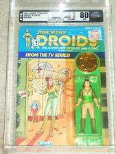 Vintage Star Wars 1985 AFA 80/85/85 KEA MOLL DROIDS Cartoon TV series Card MOC!!