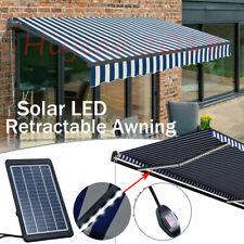 Alu Gelenkarmmarkise Solarmodul LED Sonnenmarkise Handkurbel Einziehbare Markise