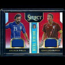 2015 Select Andrea Pirlo Gianluigi Buffon /49 Red Prizm Double Team Jersey Relic