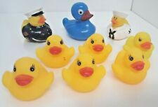 Rubber Ducks 9 Assorted Small Duckies Float Cute Bath Toys Squeak Navy Marines
