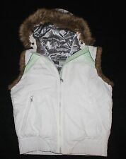 COLUMBIA GIRLS WINTER DOWN FILLED WINTER VEST~ SIZE 14/16 W/ FUR HOOD
