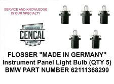 FLOSSER Instrument Panel Light Bulb (QTY 5)  62111368299   419101