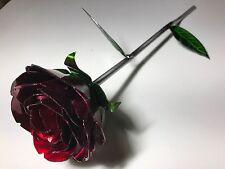 Handmade Metal Flower Rose Wall Art - Candy Paint - Made in Texas
