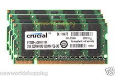 Crucial 8GB 4X 2GB DDR2 800Mhz PC2-6400 200pin SODIMM Laptop Memory NoteBook RAM