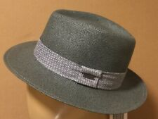 KANGOL straw fedora. Size Medium. Pistachio Color. NEW. Made in America.