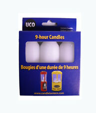 1 Set of 3 UCO 9 Hour Candles for Candlelier Original Candle Lanterns Burns