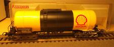 Fleischmann H0 5471 4-axis. Vagone Cisterna Carrello Di Trasporto Liquido Shell