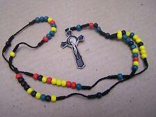 Plastic Rastafarian Rosary - Mexico