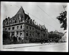 OUCHY (SUISSE) Photo G. DEVRED Presse / HOTEL DU CHATEAU animé période 1950