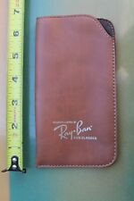 Ray Ban Sunglasses Bausch & Lomb Leather 80's Rare Original Brown Vintage CASE