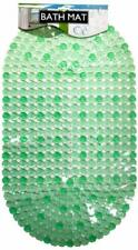 Anti-Slip Bath Mat with Suction Cups, Green. Set of 2 - NEW