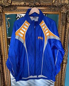 Rare Vintage Mens FILA Team Full Tracksuit Size L Blue & Orange