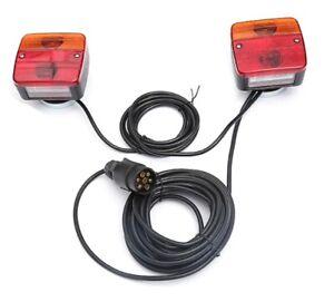 Anhänger Rückleuchten Halogen Beleuchtung Rücklicht verkabelt 7 Polig Magneten