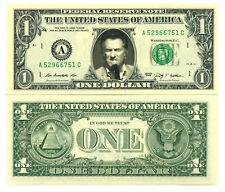 EDDY MITCHELL VRAI BILLET 1 DOLLAR US ! Collection Chanson Rock Eddie Mitchel 2