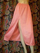 "Vintage Vanity Fair Coral Nylon Tricot Lacy Slit Mini Half Slip L 32"""