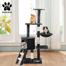 146cm Cat Tree Kitten Play Scratching Activity Centre House Pet Climbing Toy NEW