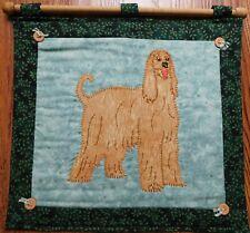 Handmade Afghan Hound Dog Hand Stitched Wall Hanging
