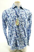 Robert Graham Dellwood NWT $198 Men's Dress Shirt Sz Small Brushstroke Wild Blue