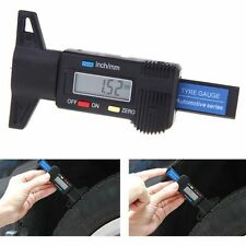 0-25mm Digital LCD Depth Gauge Car Tyre Tire Tread Brake Pad Shoe Pad Wear UK