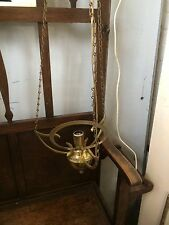 A Vintage Electrical Brass  Hanging  Lamp.
